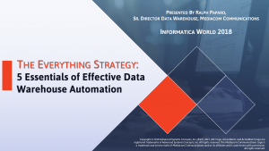 IT automation solutions enable IT to orchestrate end-to-end data warehousing processes.