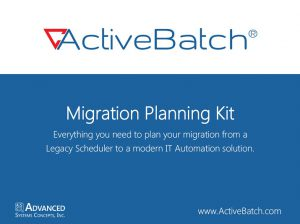Get a free kit for migrating to a new job scheduler