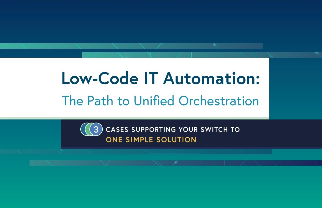 Low-code IT automation and process orchestration