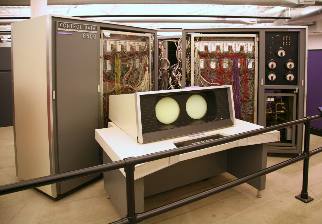 CDC 6600 was an early supercomputer that ran batch processes.