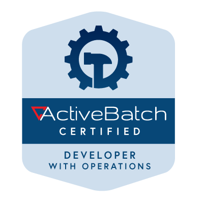 ActiveBatch Certified Developer with Operations