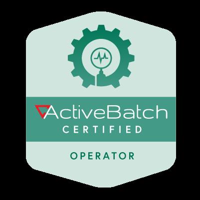 ActiveBatch Certified Operator
