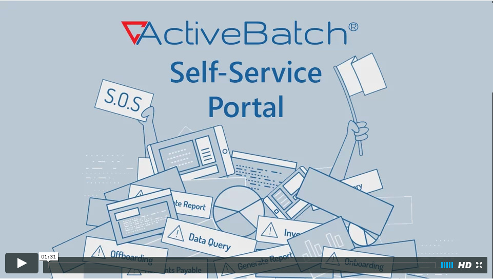 Image -  ActiveBatch Self-Service Portal for Business Users