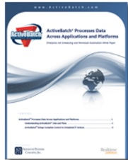 Image -  White Paper: ActiveBatch® Processes Data Across Applications and Platforms