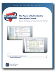 Image -  White Paper: The Power of the ActiveBatch Centralized Console