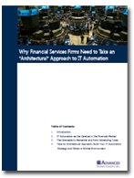Image -  White Paper: Why Financial Services Firms Need to Take an Architectural Approach to IT Automation