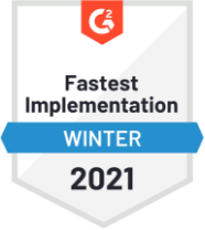 G2 Fastest Implementation Winter 2021 Badge