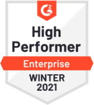 High Perofmrer Enterprise Winter 2021 Badge