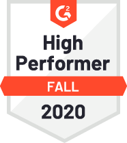 G2 High Performer Fall 2020 Badge