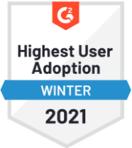 G2 Highest Adoption Winter 2021 Badge
