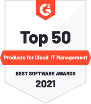 G2 Top 50 Products for Cloud IT Management Badge