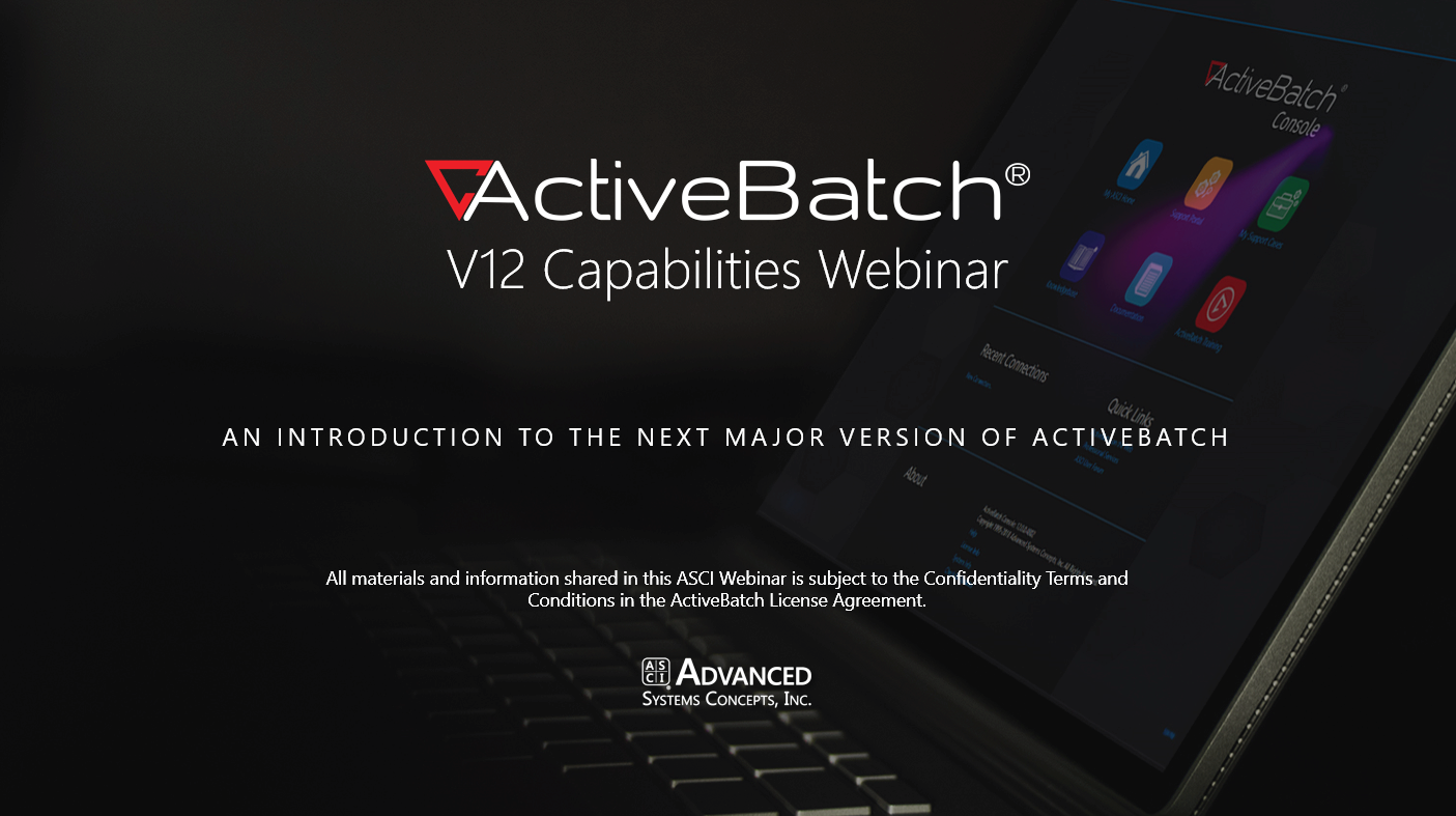 Image -  ActiveBatch V12 Capabilities Webinar