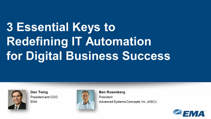 Image -  EMA Webinar Replay: 3 Essential Keys to Redefining IT Automation for Digital Business Success